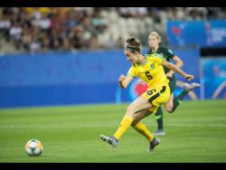 Havana Solaun takes a shot at goal against Australia during the FIFA Women's World Cup last year.